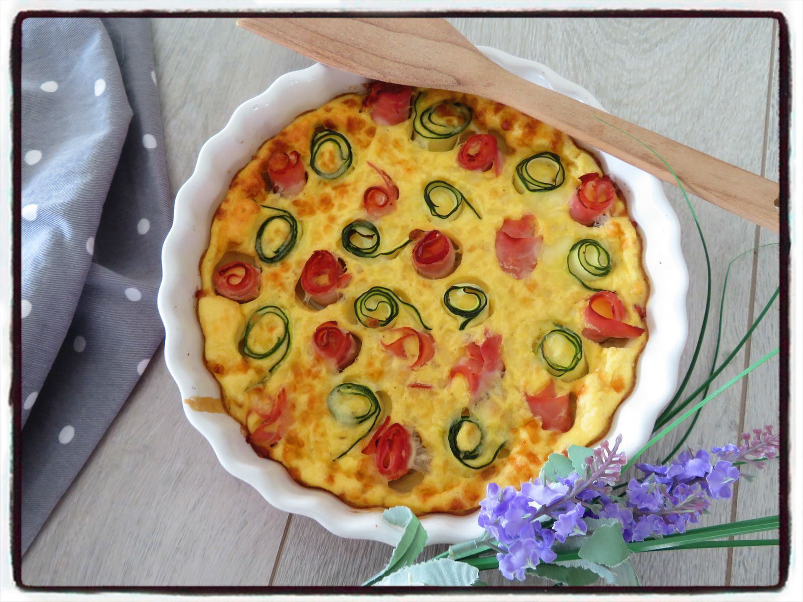 flan courgette jambon