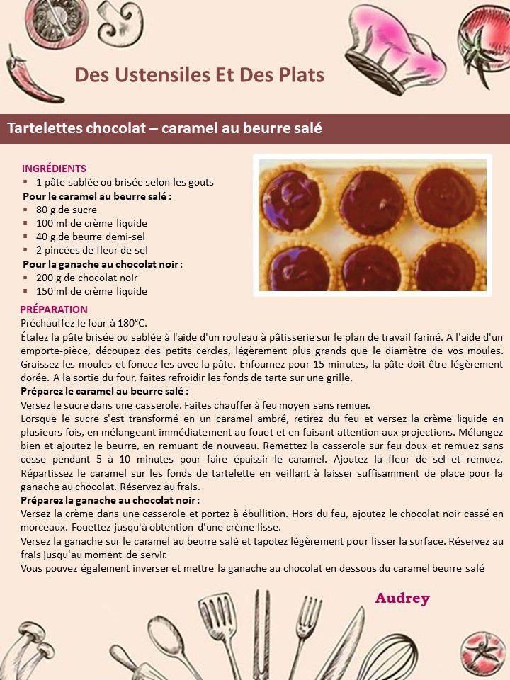 Tartelettes chocolat – caramel au beurre salé