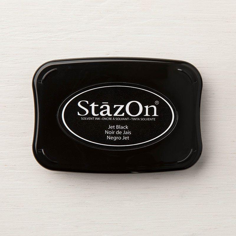 Encre Stazon noir de jais