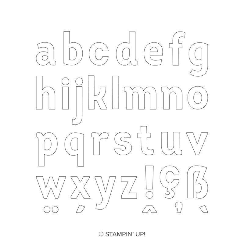 Lined alphabet