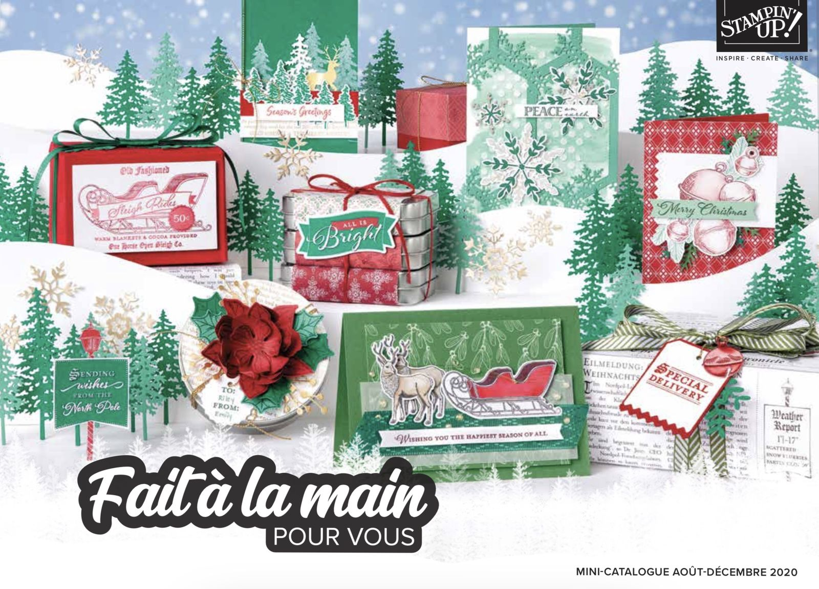 Mini catalogue août-décembre 2020 Stampin'Up!