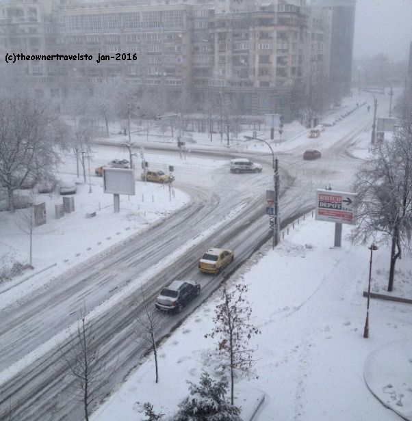 Snowy January in Bucharest