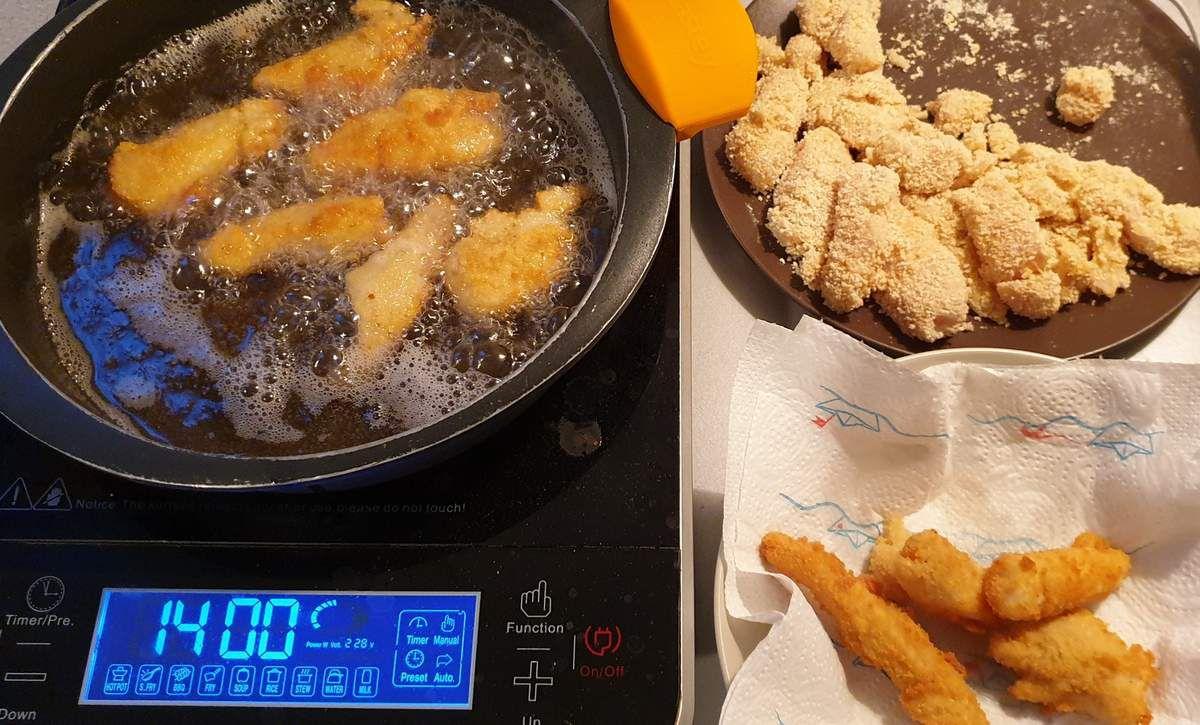 Goujonettes de poisson, sauce tartare