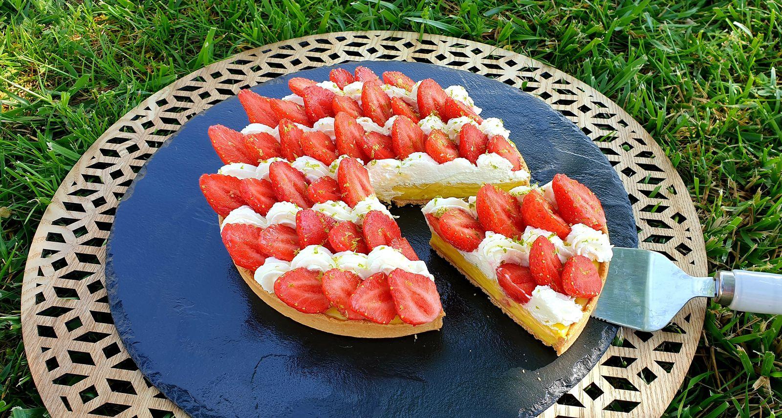 Tarte fraises et citron vert