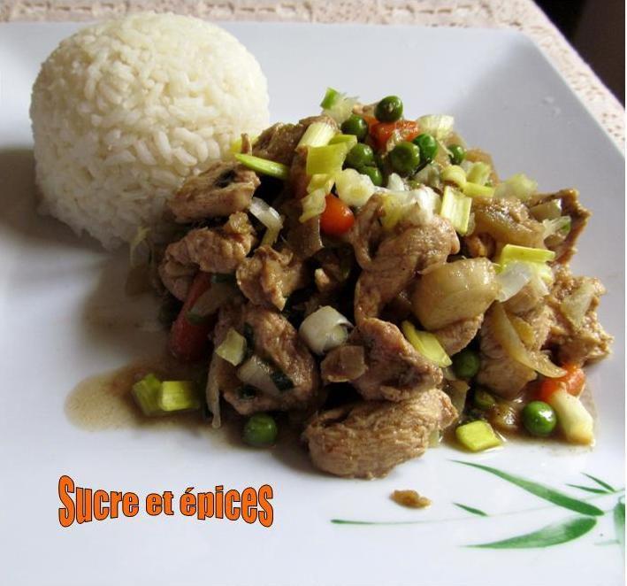 Wok de poulet et de légumes à ma façon