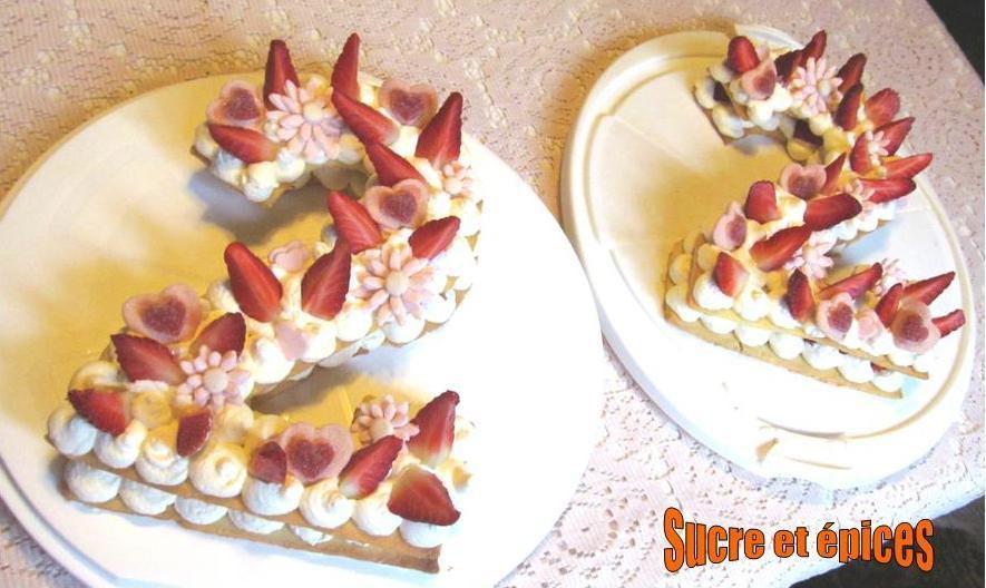 Number cake ou tarte chiffre