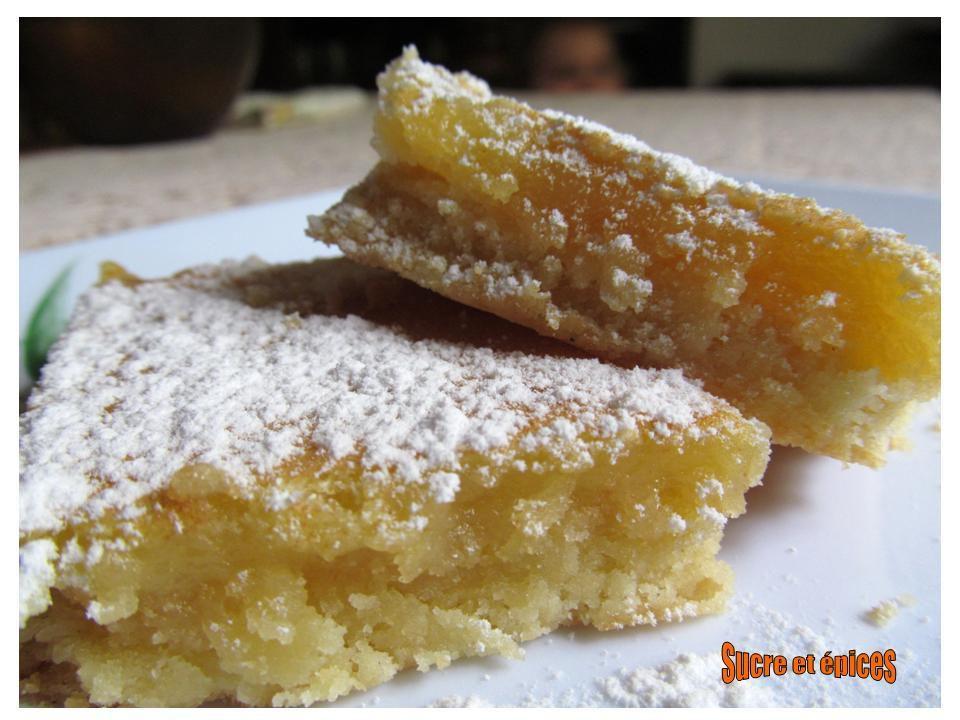 Lemon bars ou carrés au citron