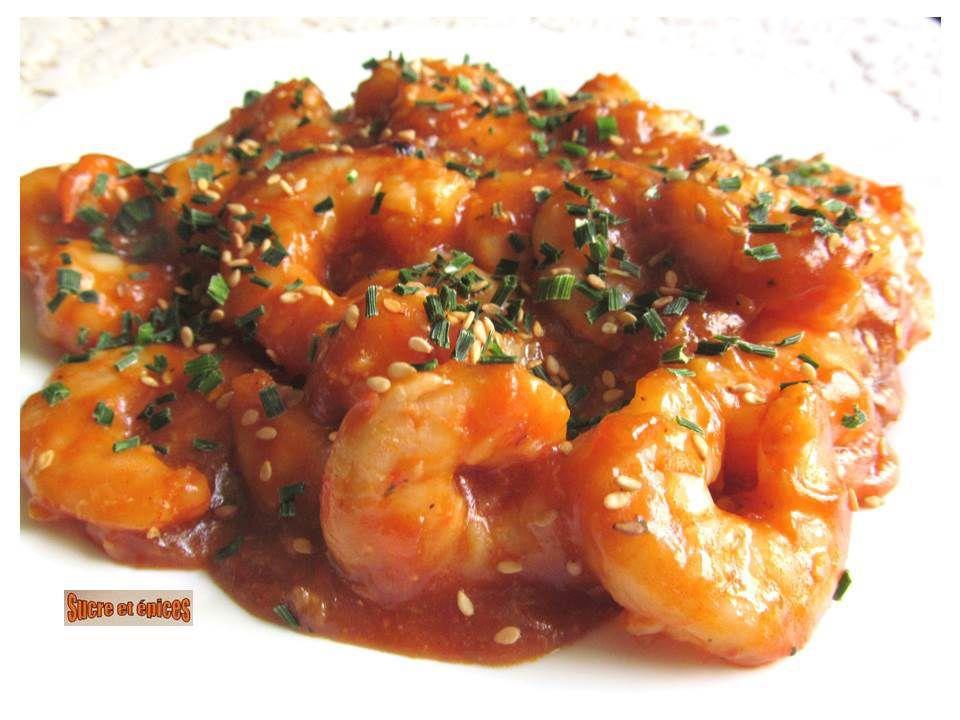 Crevettes en sauce aigre douce