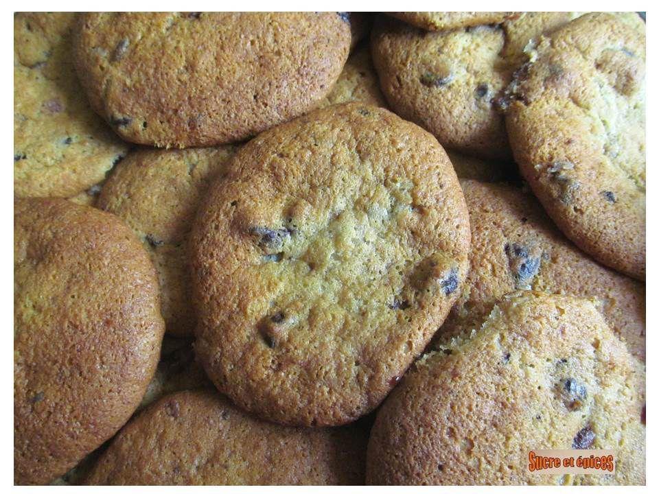 Cookies moelleux à la banane et aux pépites de chocolat