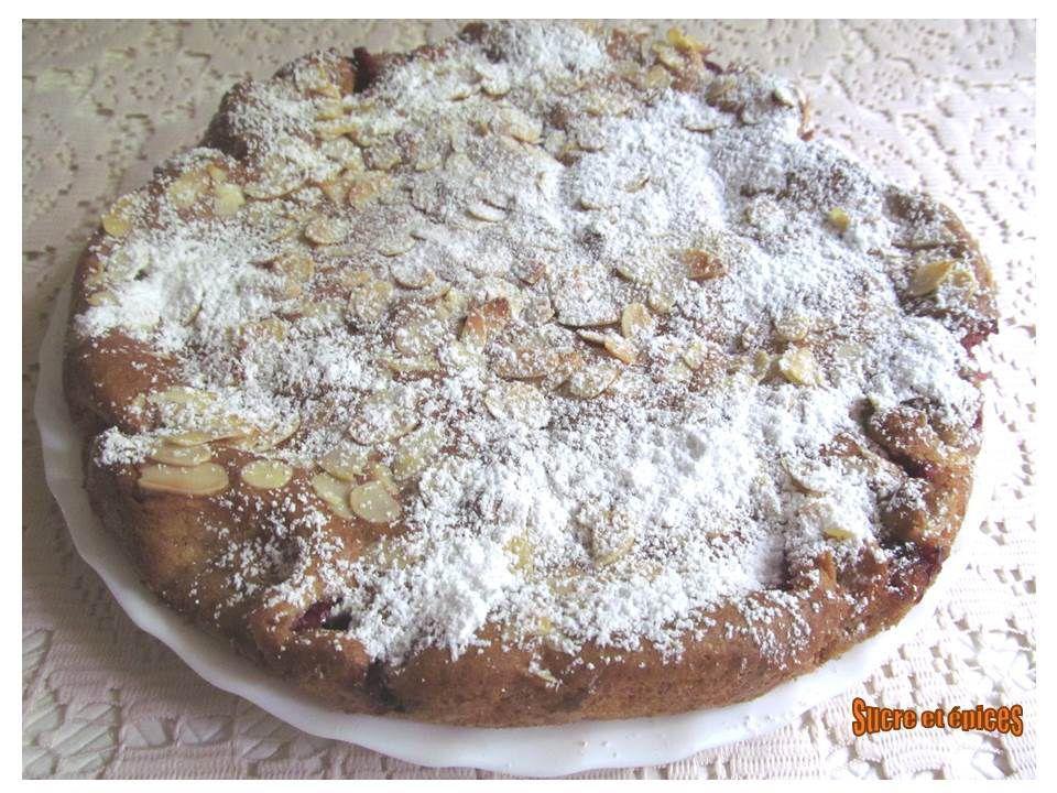 Gâteau moelleux framboises amandes