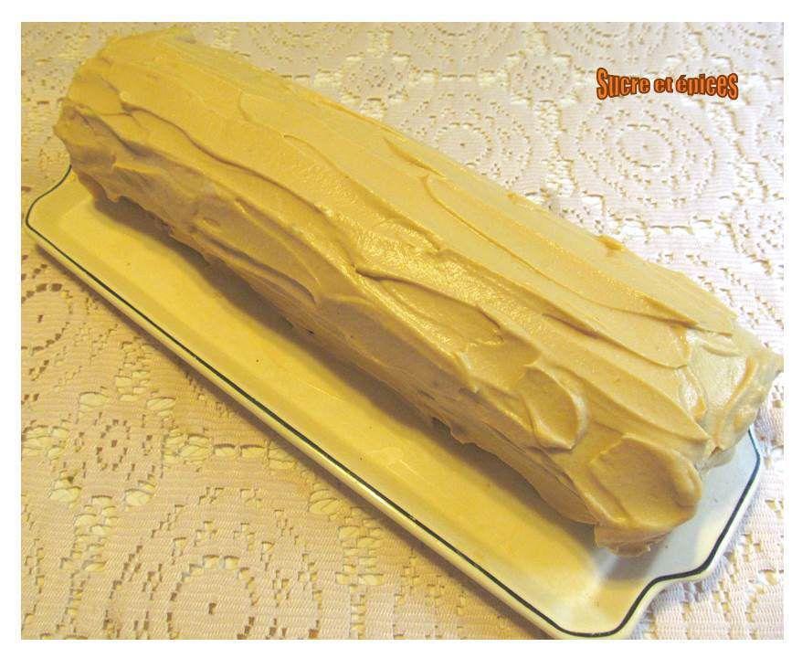Bûche à la banane crème caramel au beurre salé