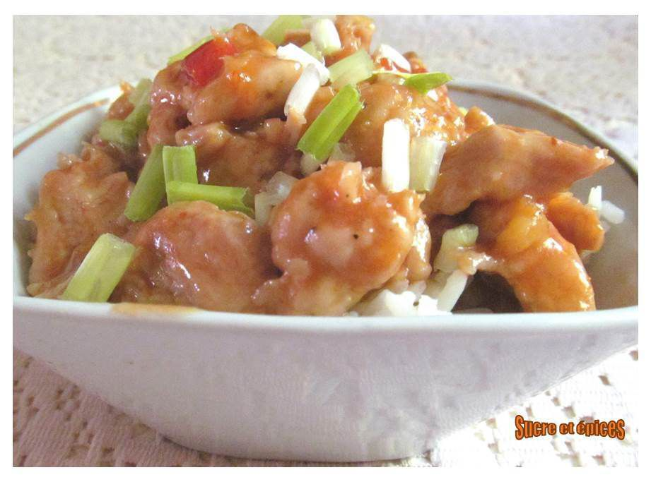 Poulet sauce sweet chili