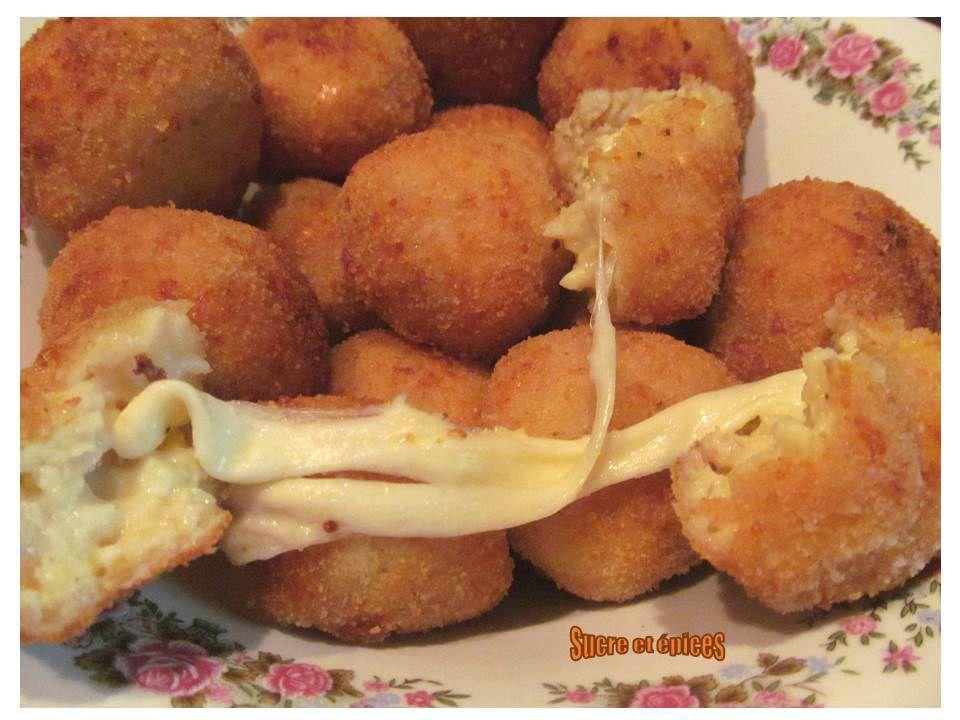 Boulettes pommes de terre fromage farcies à la mozzarella