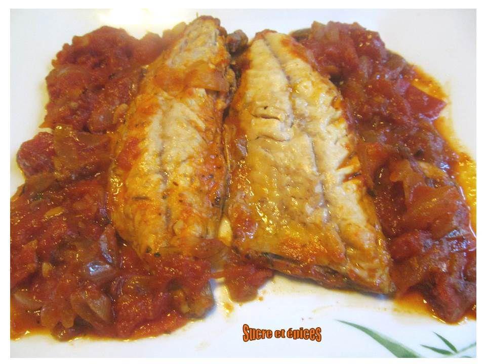 Filets de maquereaux en sauce tomates