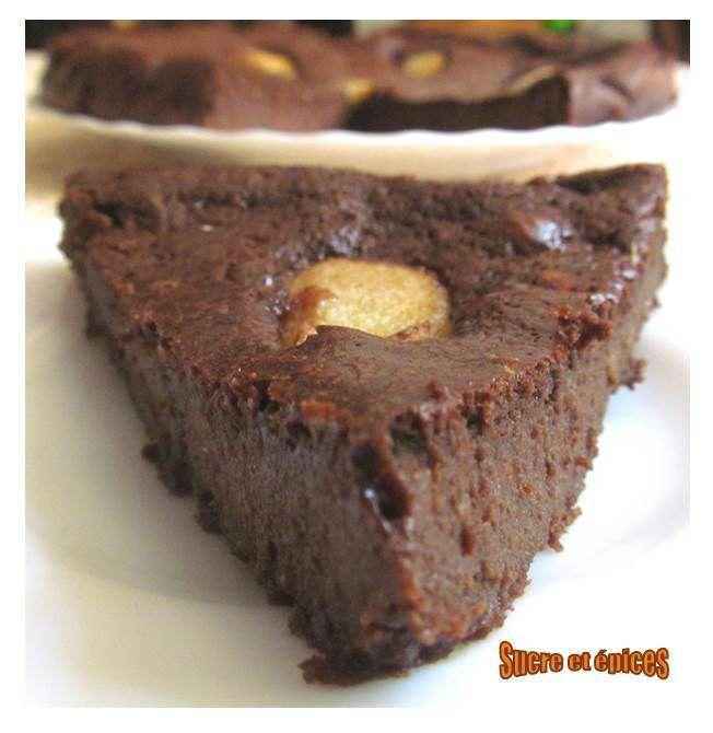 Moelleux au chocolat, mascarpone et poires