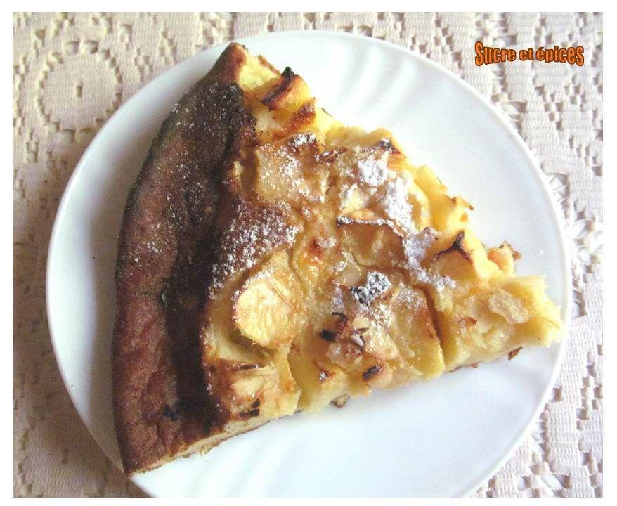 Crêpe épaisse aux pommes cuite au four