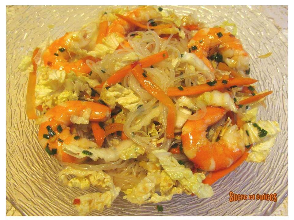 Salade aux vermicelles de riz et crevettes