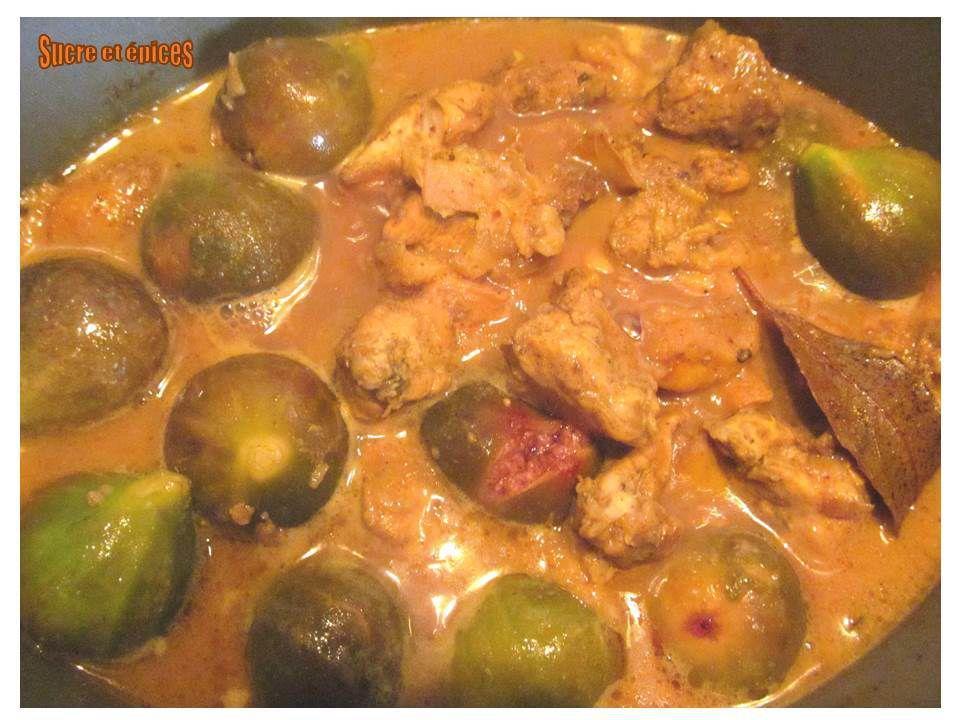 Tajine de poulet aux coings et aux figues