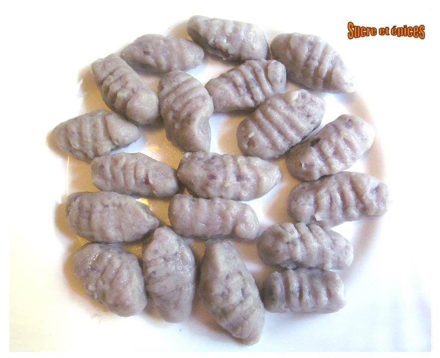 Gnocchis de vitelottes ou pas (pommes de terre)