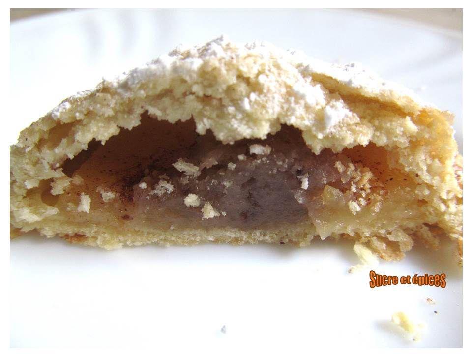 Biscuits sablés fourrés aux pommes et à la crème de marrons