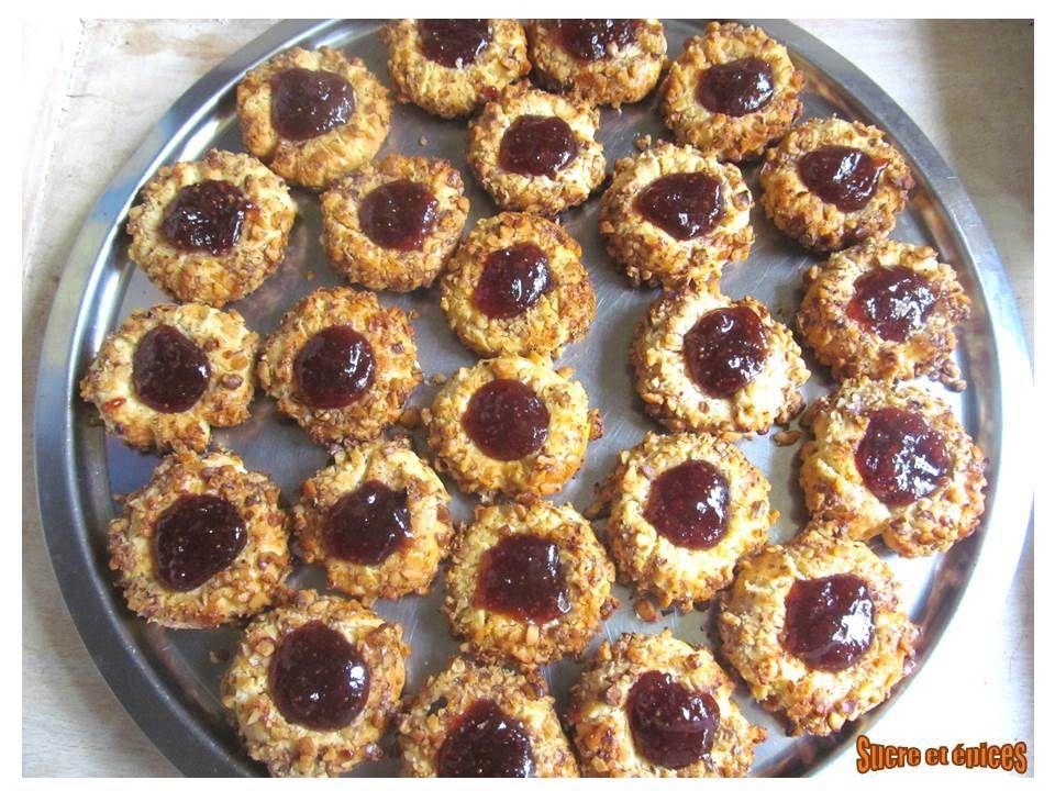 Biscuits sablés aux noix et à la marmelade de figues