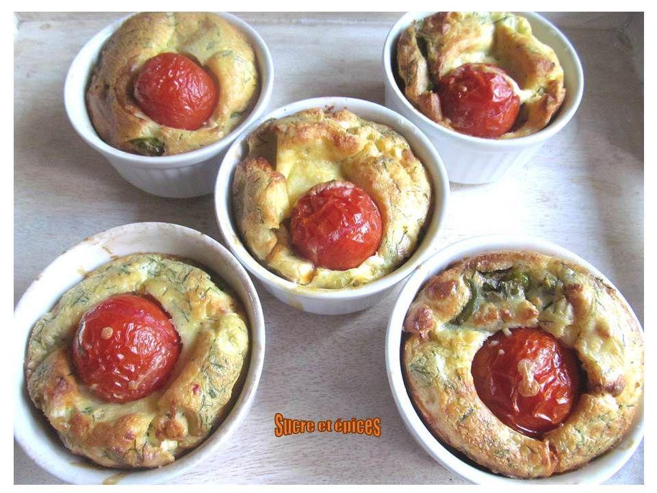 Clafoutis tomates, épinards et feta