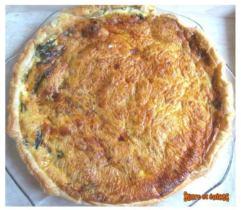 Tarte aux épinards et au fromage de chèvre frais