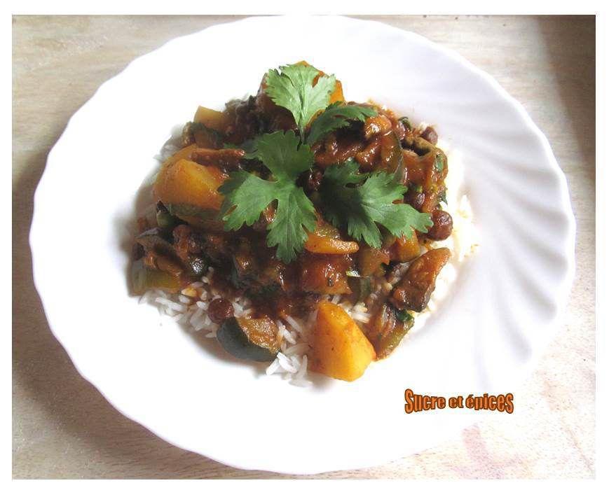 Curry de légumes (végétarien)
