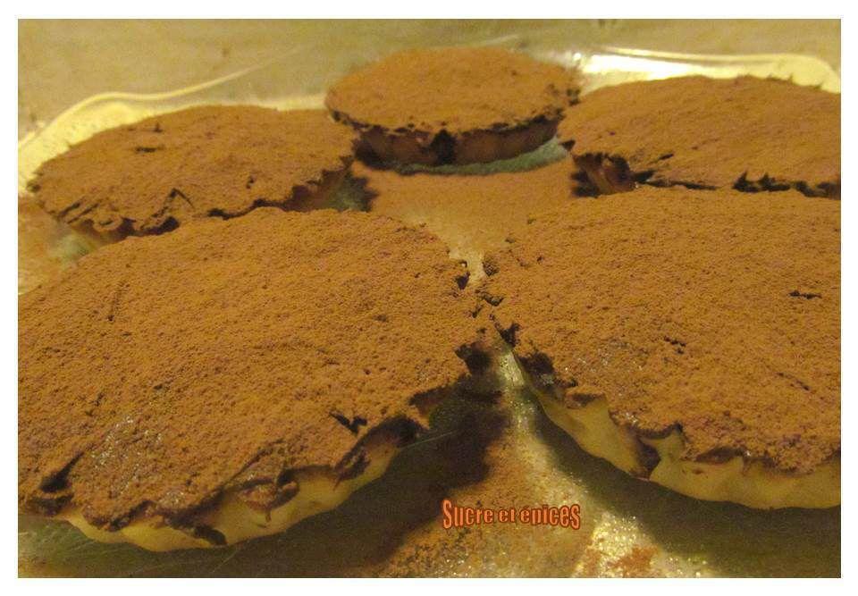 Tartelettes faciles à la crème de marrons et au chocolat