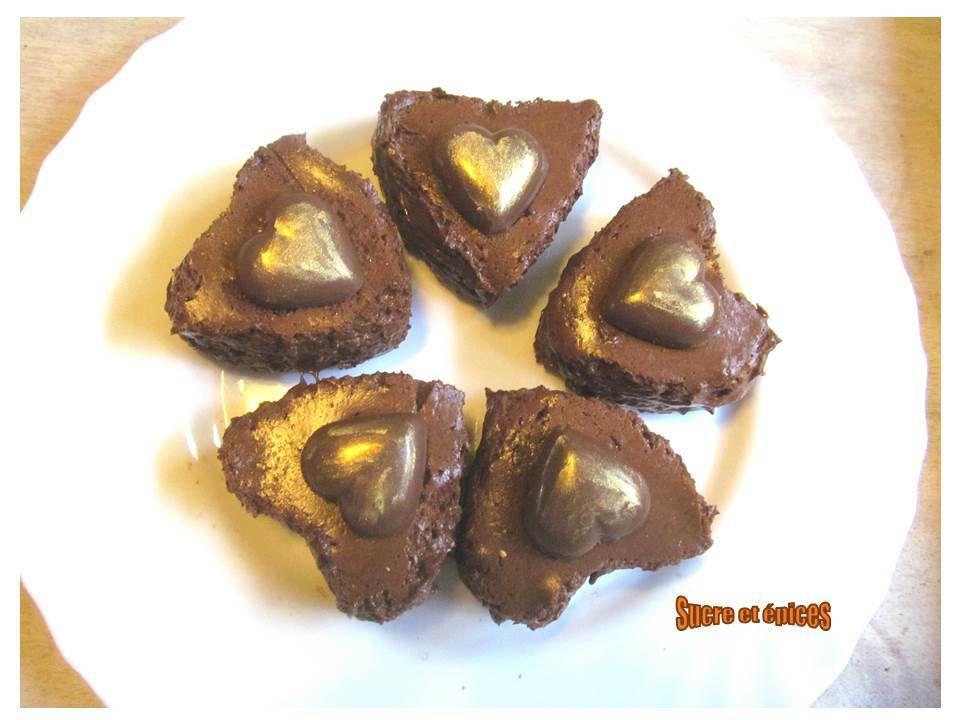 Coeurs au chocolat et croquant dentelle