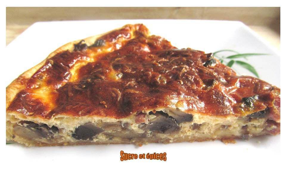 Quiche champignons, lardons et fromage