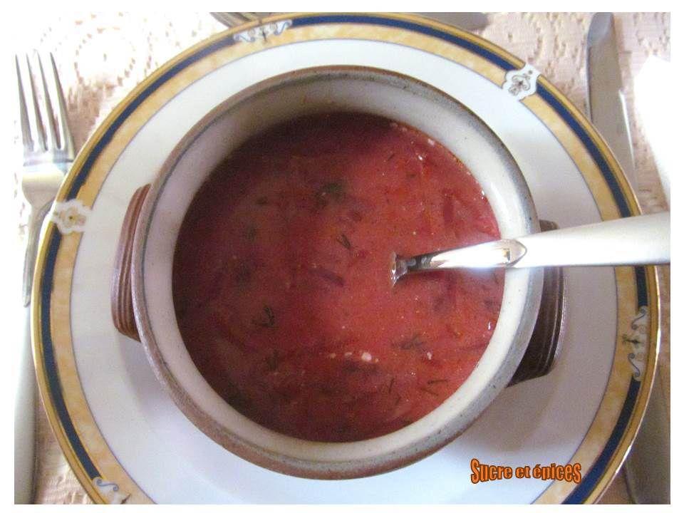 Bortsch à ma façon - soupe au chou et à la betterave