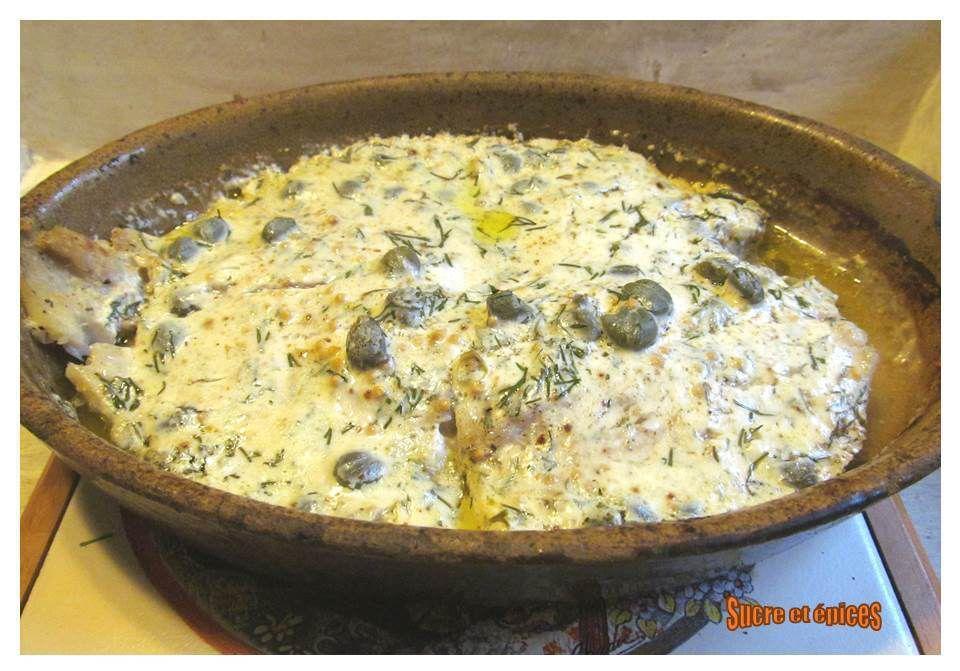 Filets de perche sauce au yaourt et câpres