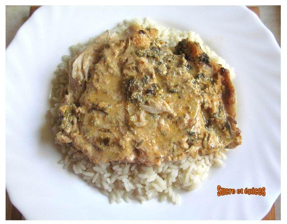 Filets de perche au yaourt et au curry