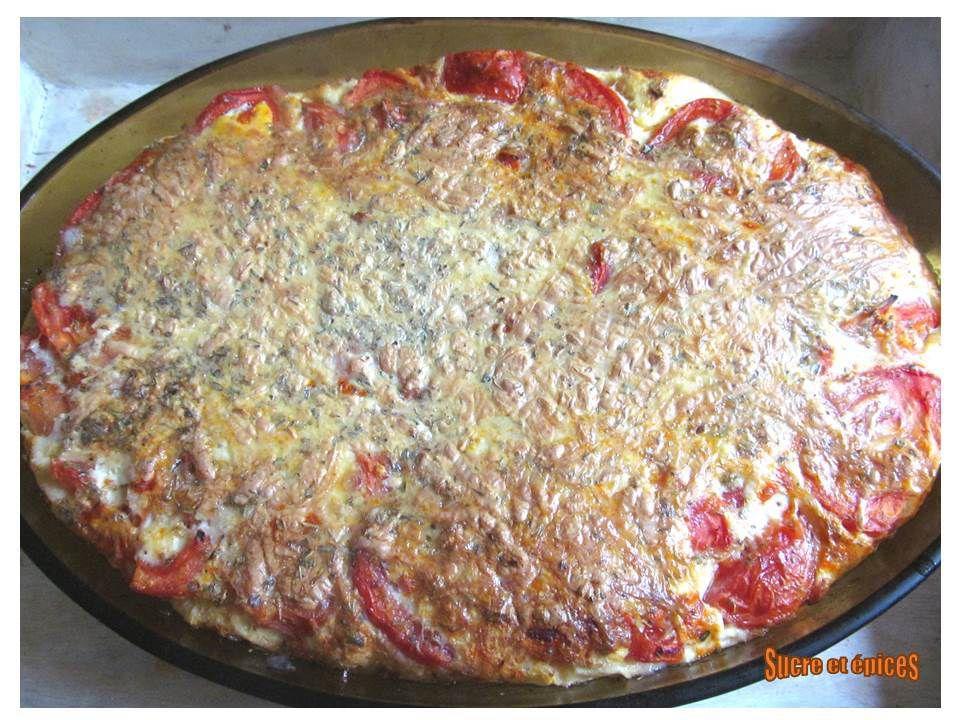 Clafoutis aux tomates et scamorza fumée