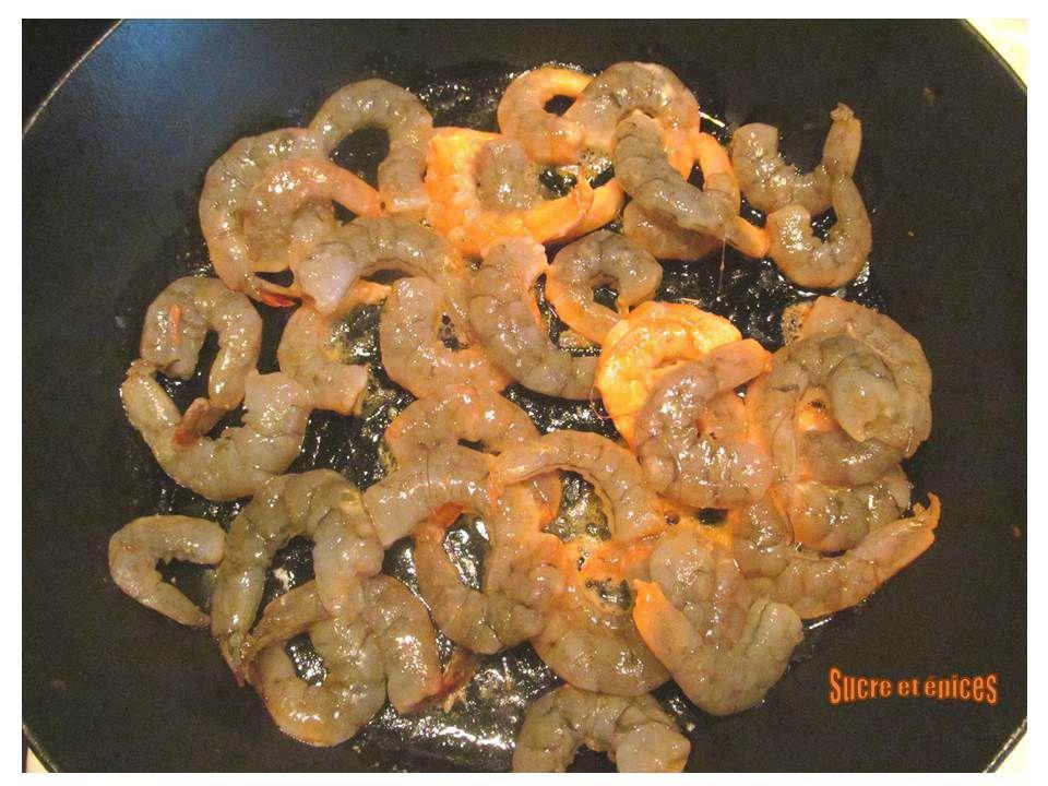 Crevettes à la toscane