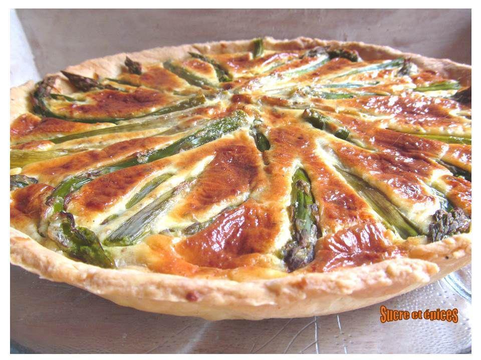 Tarte aux asperges vertes, Caprice des Anges, parmesan et origan
