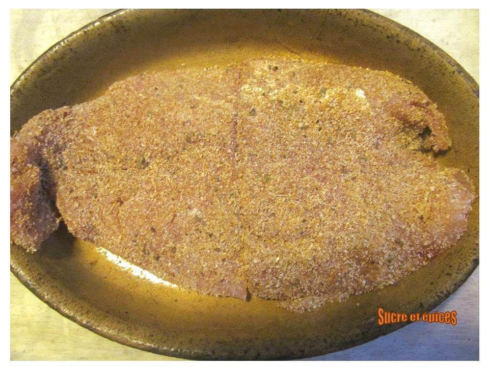 Filets de perche au four au parmesan et paprika
