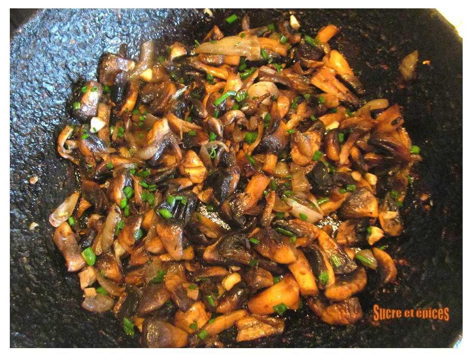 Tartinade de champignons aux oeufs et Caprice des Anges