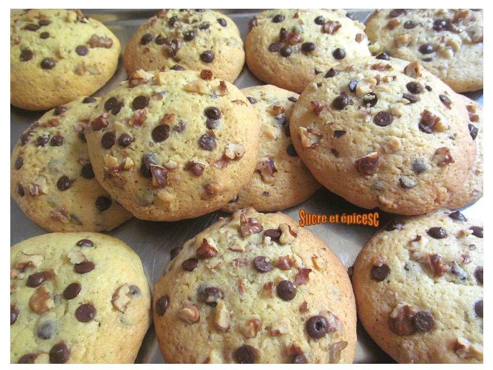Cookies noix-pépites de chocolat