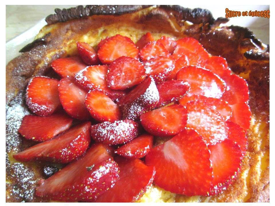 Dutch baby pancake aux fraises