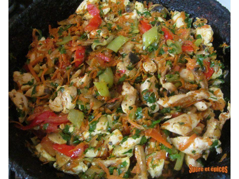 Poêlée de poulet aux légumes