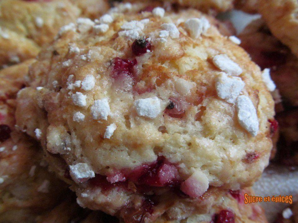 Cookies moelleux aux groseilles (sans oeufs)