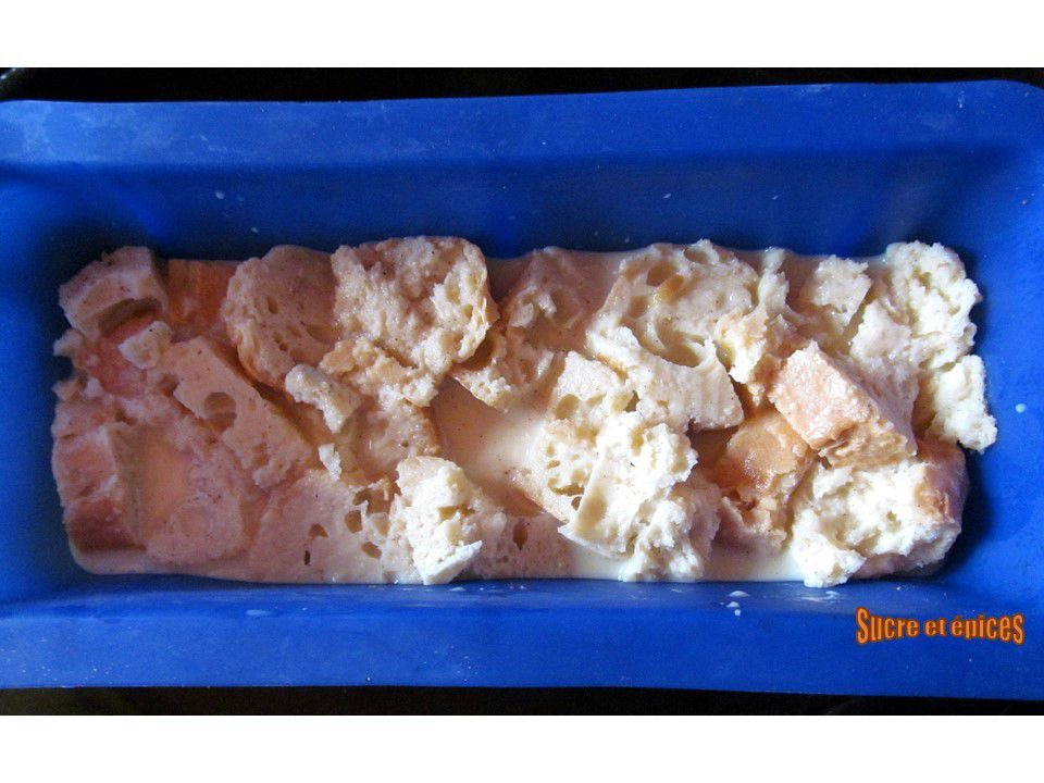 Bread pudding aux fruits rouges