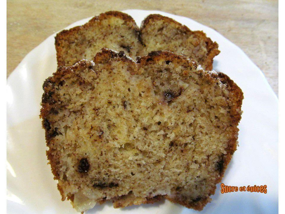 Cake au yaourt, poires et chocolat