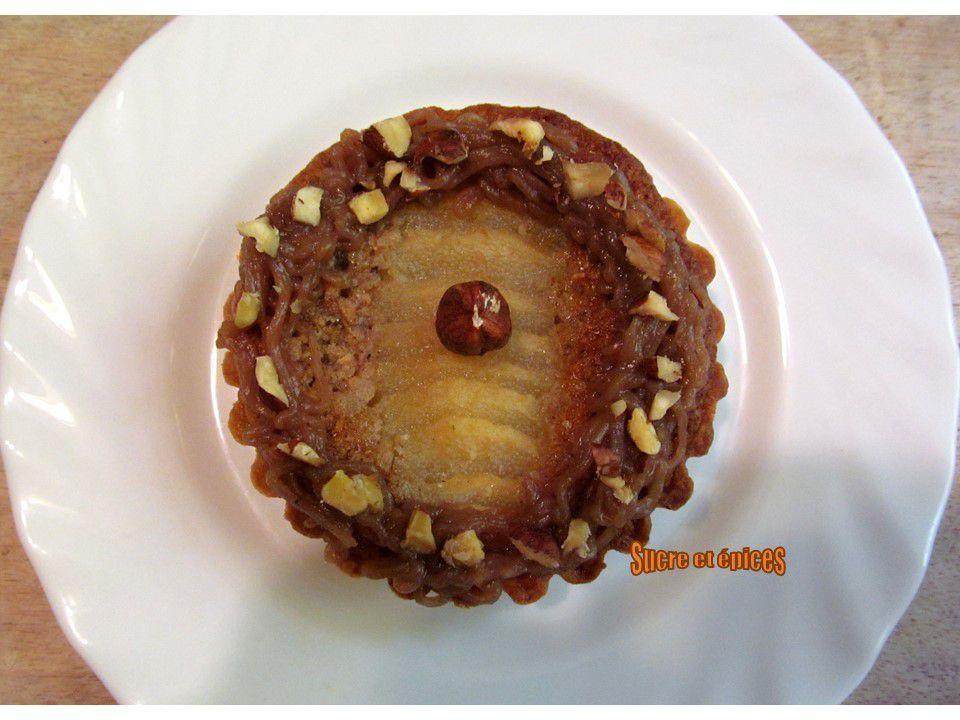 Tartelettes Bourdaloue aux noisettes et à la crème de marrons
