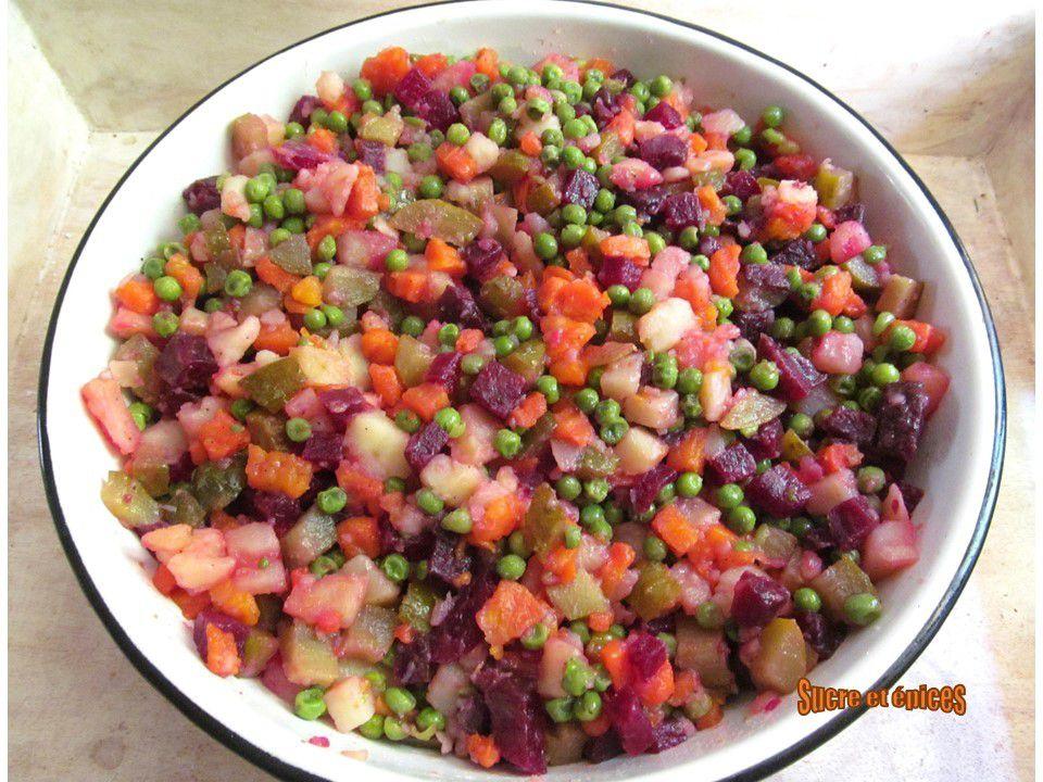 Salade russe Vinegret (vegan)