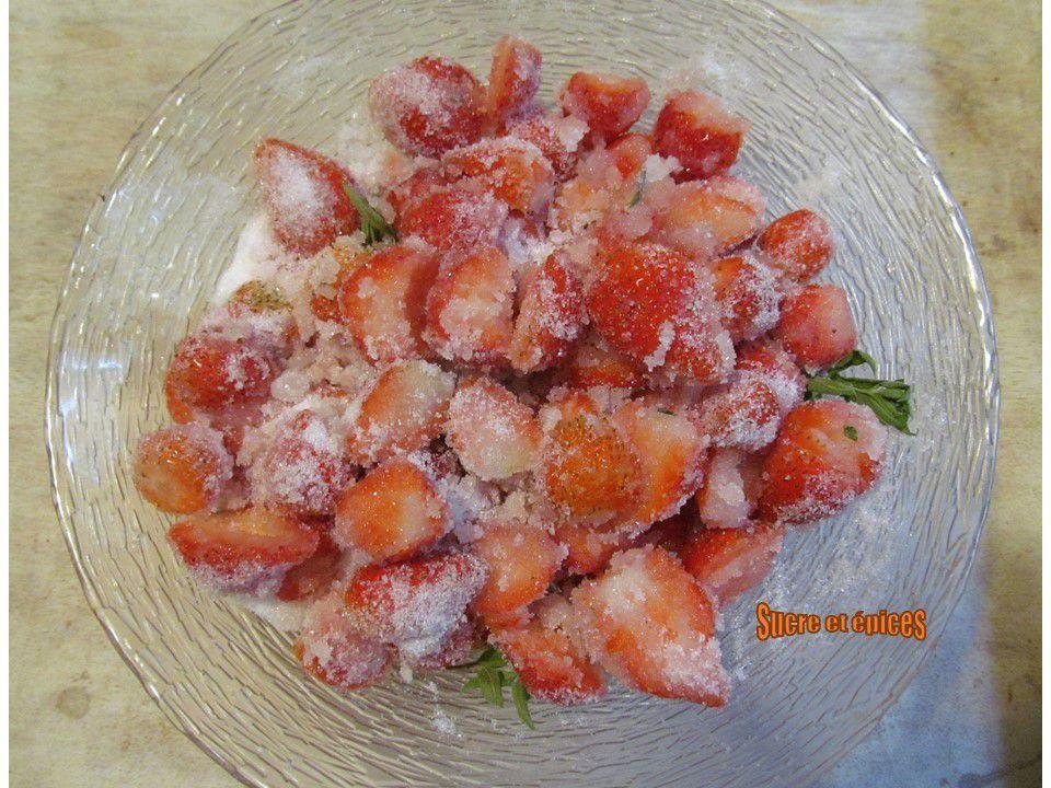 Confiture de fraises, citron et verveine