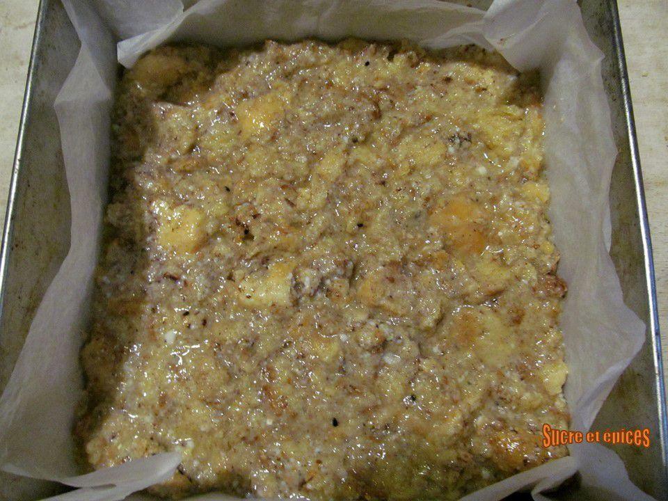 Pudding aux pommes, sirop d'érable et épices
