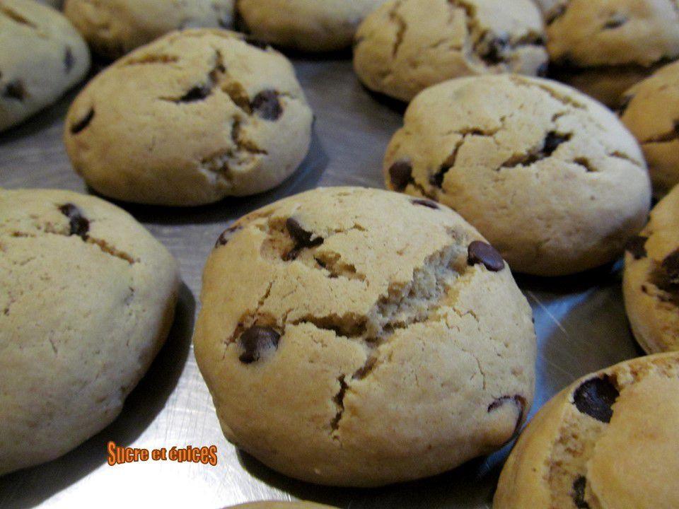 Biscuits faciles au café avec des pépites de chocolat
